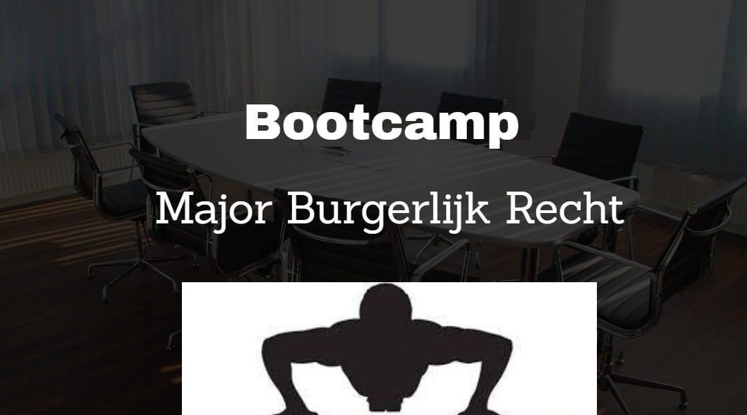 Doe je mee aan de Bootcamp Major Burgerlijk Recht?